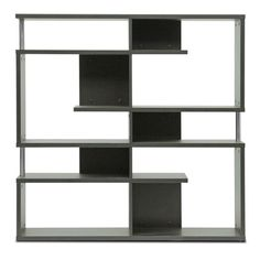 Kessler Dark Brown Modern Bookshelf - Medium Height