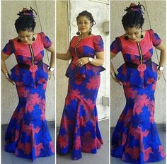 Ankara Styles : Lovely Blouse and Skirt Styles.Ankara Styles : Lovely Blouse and Skirt Styles African Print Dresses, African Print Fashion, Africa Fashion, African Fashion Dresses, African Attire, African Wear, African Women, African Dress, African Prints