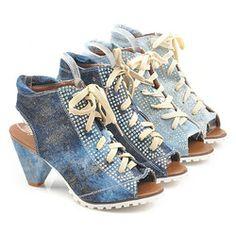 aliexpress.com open toe denim shoes shining diamond rhinestone canvas shoes ...