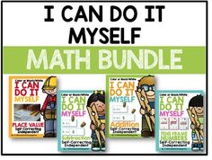 This is the Big Bundle of I Can Do It Myself Math Activities  Self-Correcting, Independent and Differentiated ActivitiesI Can Do It Myself is a self-correcting, independent card station that allows your students to work independently, practice basic skills and check their work without teacher direction or intervention.