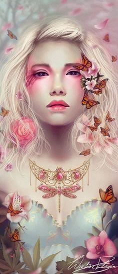 Pink fantasy art
