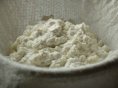 The Homemade Pantry's Ricotta Cheese. I make this often, but with the high cost of milk, sometimes it is cheaper to just buy ricotta when it goes on sale. Homemade Ricotta Recipe, Homemade Cheese, Great Recipes, Favorite Recipes, Cheese Maker, Cheese Recipes, Milk Recipes, Serious Eats, It Goes On