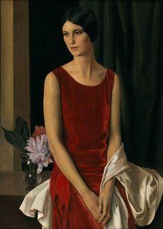 "Louis Buisseret 1888-1956 ""Portrait of Mary Louise McBride (Mrs Homer Saint-Gaudens)"" 1929"