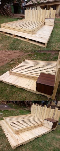 Pallet Furniture Projects That's great news for you because you want them to last for a long time. So start picking up some pallet and let these pallet ideas inspire you. Wooden Pallet Projects, Wooden Pallet Furniture, Pallet Beds, Pallet Crafts, Wooden Pallets, Pallet Sofa, Furniture Projects, Diy Furniture, Diy Projects