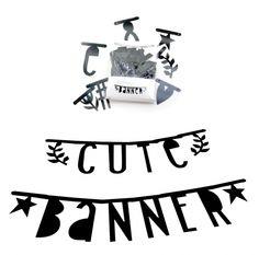 DIY banner diy word banner letter slinger zwart €11,50 at www.indie-ish.nl