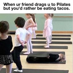 Ugh. But I don't wanna go to Pilates. I wanna stay home and eat tacos  Tag that friend who always drags you to fitness class #POPpilates
