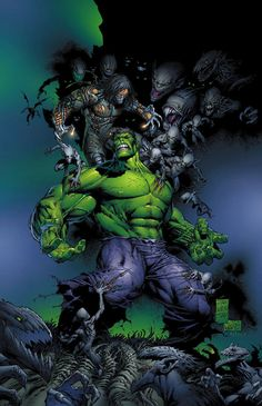 Darkness/Hulk - Comic Art Work By Marc Silvestri - #comics, #comicart, #marcsilvestri, #silvestri