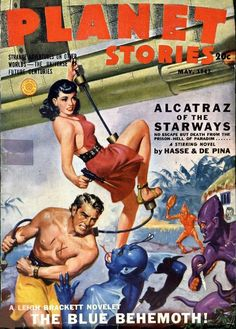 New item in my etsy shopPlanet Stories vintage US pulp magazine cover art May 1943 SF241 by PanchromaticaDesigns. Find it here http://ift.tt/21SzmaQ