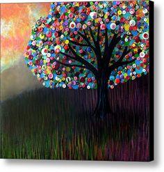 Button Tree 0004 Canvas Print / Canvas Art By Monica Furlow
