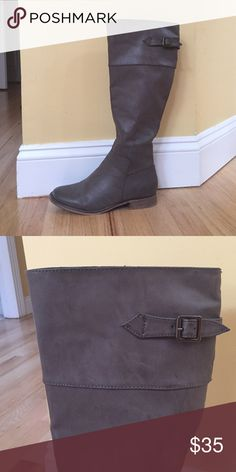 Grey High Boots Worn one time! MIA Shoes Heeled Boots