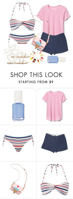 """Ice Cream Shack & Swim"" by mintsprits ❤ liked on Polyvore featuring Gap, Forever 21, OOAHOOAH and N2 By Les Nereides"