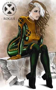 Rogue is one of my favorite X-Men from back in the day, and I think this is a great image of her. Rogue by Anwar Gant