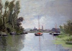 The Athenaeum - Argenteuil Seen from the Small Arm of the Seine (Claude Oscar Monet - )