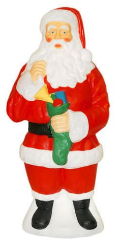new 40 santa claus w stocking outdoor lighted christmas blow mold yard decor 2