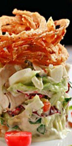 Copycat recipe - Ruth's Chris Jumbo Stacked Chopped Salad ❊