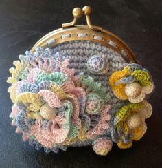 Crochet coin purse Inpiration only