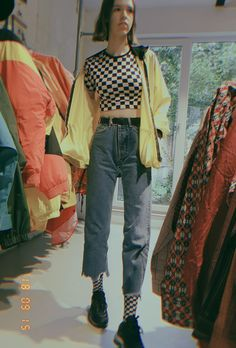 #fashion #retro #streetstyle 70s Outfits, Indie Outfits, Vintage Outfits For Teens, School Outfits, Summer Outfits, Grunge Outfits, Retro Fashion 80s, Trendy Fashion, Fashion Styles