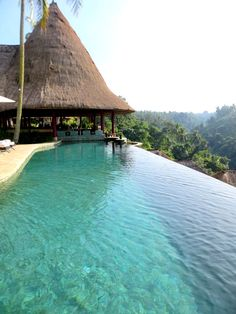 """Infinity Pool at Viceroy Bali overlooking the """"Valley of the Kings"""""""