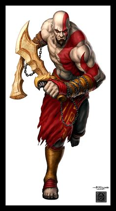 GamePro Cover: Kratos by ~VegasMike on deviantART Kratos God Of War, Character Concept, Concept Art, Character Design, God Of War 3, Future Soldier, Cool Art Drawings, Fantasy Warrior, God Of War