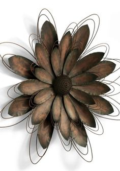 Metal Wall Flower lotus flower metal wall art - lotus metal art - home decor - metal