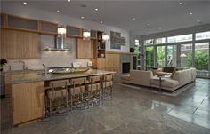Open Contemporary Kitchen by Susan Fredman  on HomePortfolio