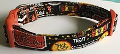 Trick or Treat Halloween Collar for Dogs and Cats