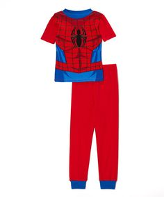 Another great find on #zulily! Spiderman Red Spider-Man Character Pajama Set - Boys by Spiderman #zulilyfinds