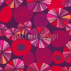 Red Potpourri created by Annemiek Groenhout offered as a vector file on patterndesigns.com Vector Pattern, Potpourri, Vector File, Surface Design, Circles, Patterns, Create, Red, Color