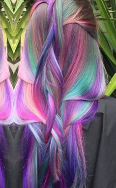 Pink purple dyed hair color inspiration @lollypoplocks