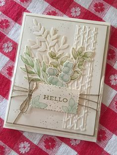 Fall Cards, Christmas Cards, Karten Diy, Leaf Cards, Embossed Cards, Stamping Up Cards, Pretty Cards, Paper Cards, Creative Cards