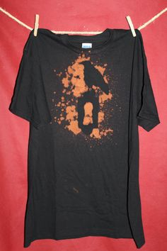 Raven Holds the Key bleached shirt Mens by CookiesOwlsSunshine, $11.95