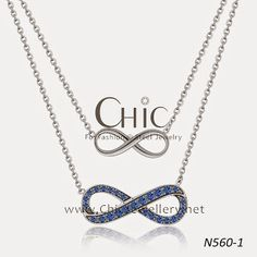 Fashion Infinity Necklace Jewelry In Stainless Steel