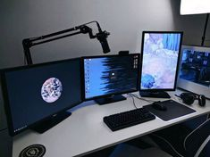 Cool And Contemporary z-line gaming performance desk only in homesable design Gaming Computer Setup, Simple Computer Desk, Best Gaming Setup, Gamer Setup, Gaming Room Setup, Pc Setup, Office Games, Bedroom Setup, Video Game Rooms