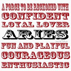 Horoscopes And Astrology Quotes : QUOTATION – Image : As the quote says – Description Aries Zodiac Typography Fine Print. Handmade by MursBlanc on Etsy: A force to be reckoned with Confident Loyal Lover A R I E S Fun and playful Courageous Enthusiastic Aries Taurus Cusp, Aries Ram, Aries Love, Aries Astrology, Zodiac Signs Aries, Astrology Numerology, Zodiac Facts, Pisces Facts, Tarot