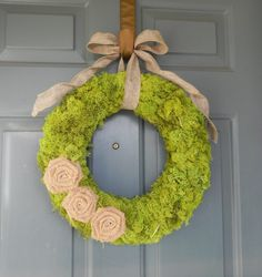 Moss Wreath  Rustic Decor   by RedRobynLane on Etsy