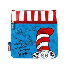 Dr Seuss The Cat in The Hat (Emotive) Large Pencil Case for Kids and Young Adults at School or Work