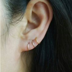 Pair of Small Hoop Earrings 18 Gauge 10 Diameter Nickel Free Hypo Allergenic For Ear Lobe, Cartilage and Nose Jewelry Earrings