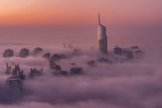 Brouillard - Morning fog over Dubai Jumeirah lake towers. the first time that i post this unique version. Captured with Zeiss Otus 85mm on Nikon D810.