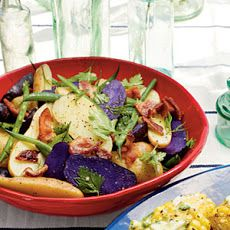 Hot Bacon Potato Salad with Green Beans Recipe