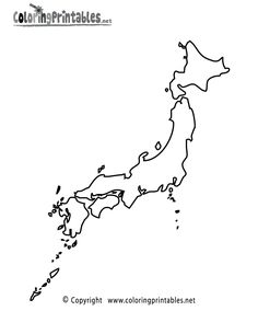 Japan Coloring Pages Coloring Book Elementary World Art - Japan map sketch