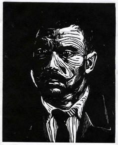 Linocut Portrait - WetCanvas