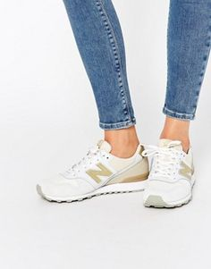 New Balance – 996 – Sneakers in Creme und Gold