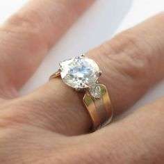 Vintage Cartier Engagement Ring with Yellow Gold