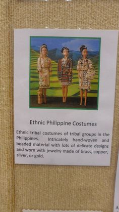 Another early Filipino dress