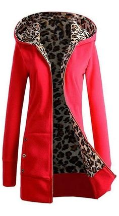 9d0eed46441  33.99 USD Sale! Free Shipping! Shop Now! Hoodie Pockets Leopard-print Thick