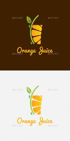 Orange Juice Drink Logo Template  - Food Logo Templates