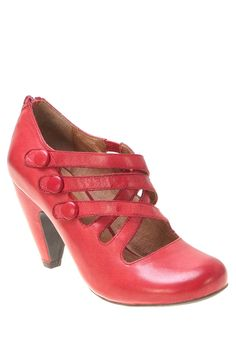 Scarlett Button Heel / Miz Mooz... If heels didn't kill my feet, I would wear these