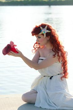 Ariel, The Little Mermaid. Totally could do this as a costume.