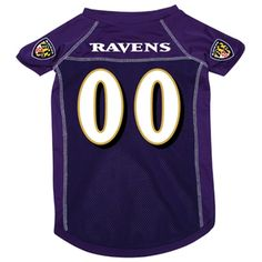 Baltimore Ravens Deluxe Dog Jersey - Extra Large