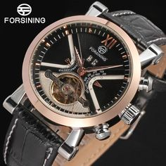Automatic Tourbillon Watches Male Fashion Mechanical Watch Calendar Golden Dial Men's Watch Luxury Brand relogio masculino